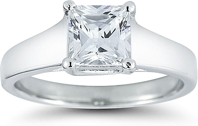 Diamond Solitaire Princess Ring Confilct Free